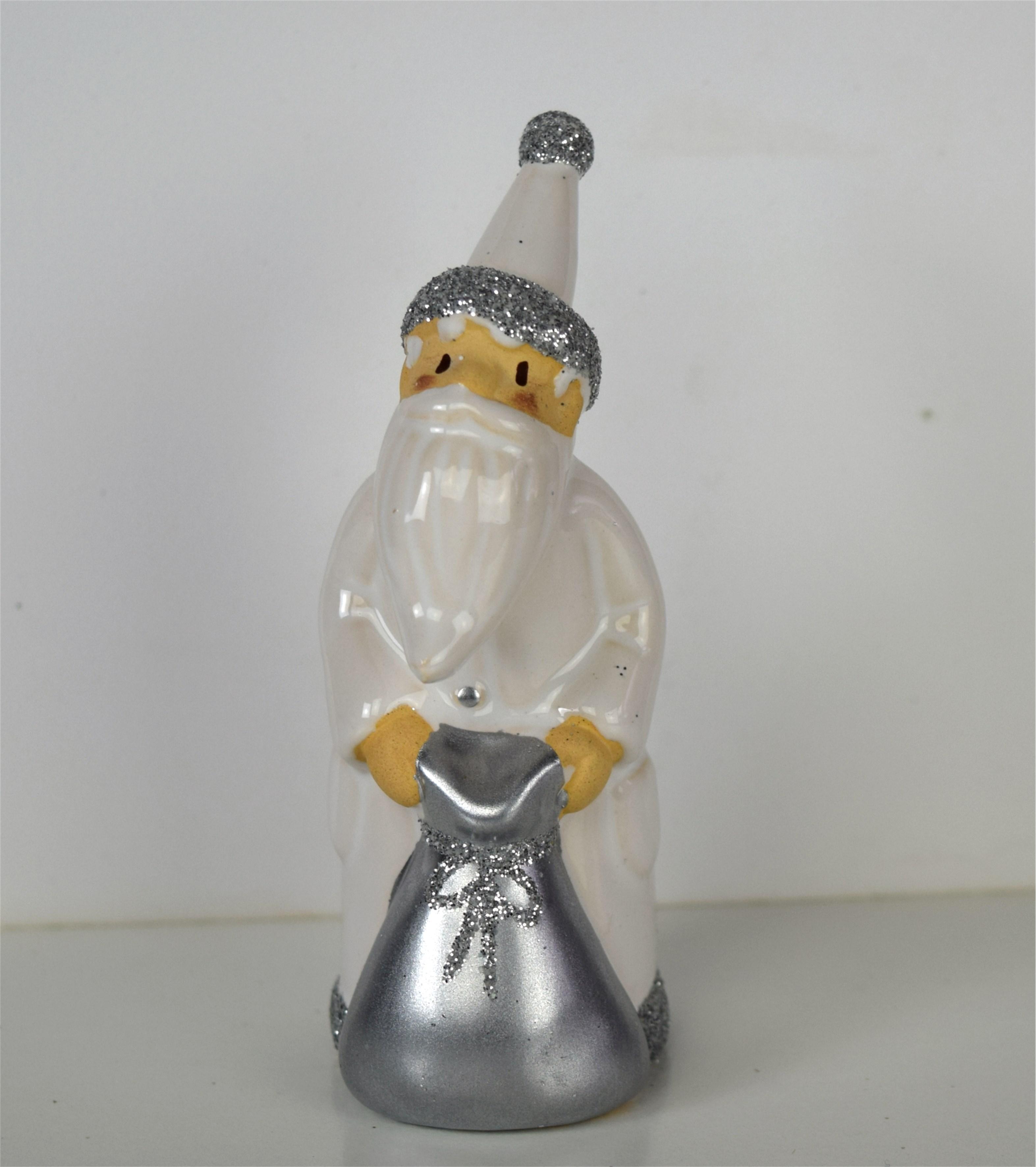 nikolaus weihnachtsmann weiß mit sack 4610 cm