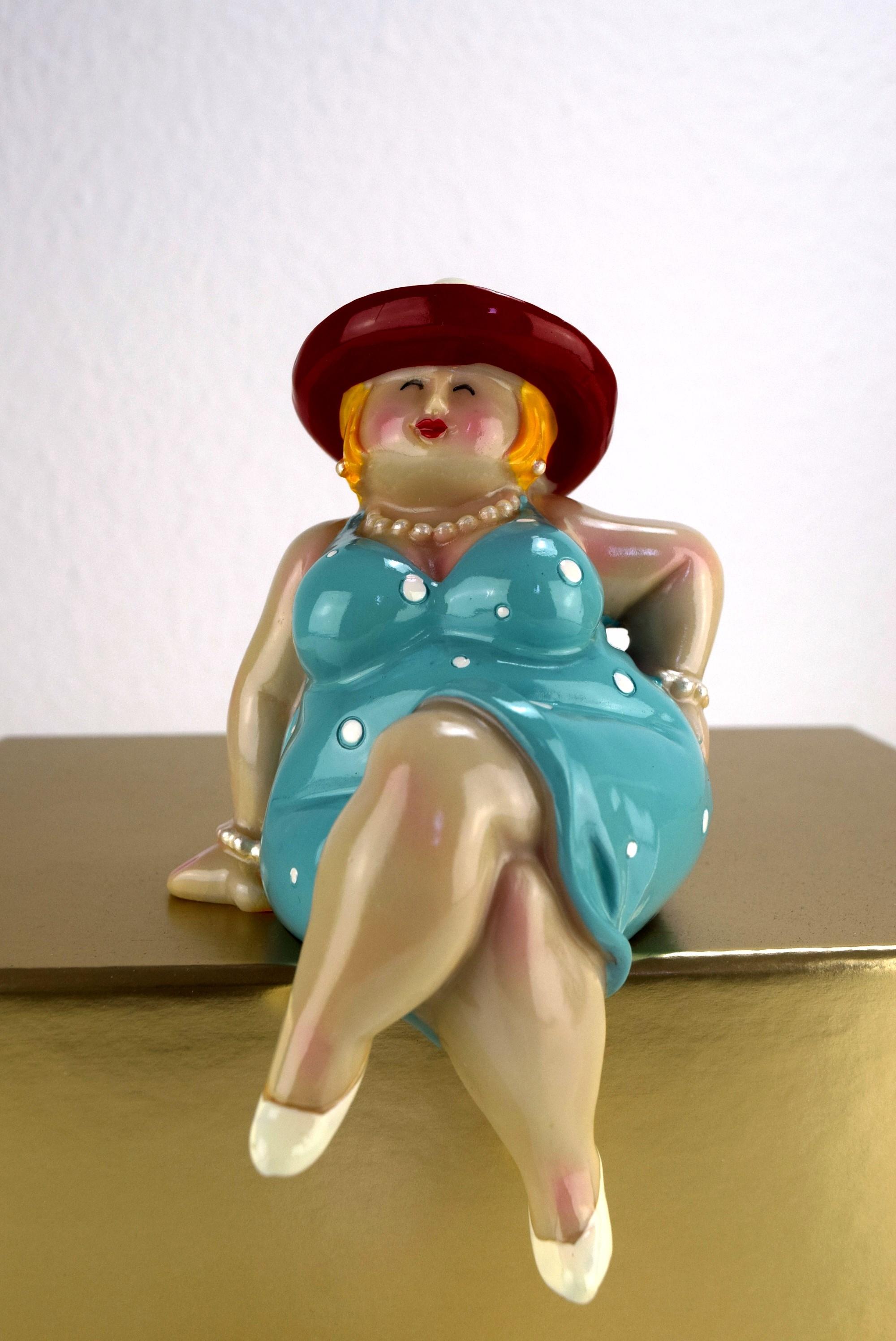 Inware Kantenhocker Dame 14 cm Dicke Frauen Rubensmodelle