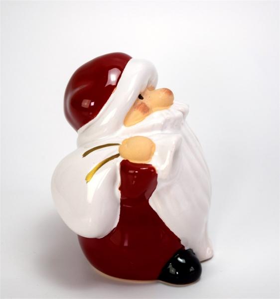 nikolaus weihnachtsmann mit sack ca 958cm keramik